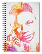 Nat King Cole Watercolor Spiral Notebook