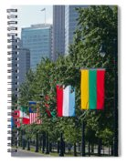National Flags Of Various Countries Spiral Notebook