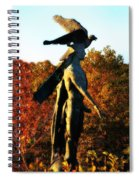 Native American And Eagle Spiral Notebook