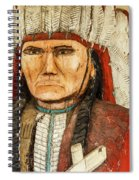 Native American Chief With Pipe Spiral Notebook