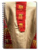 Native American Great Plains Indian Clothing Artwork 09 Spiral Notebook