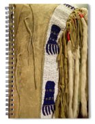 Native American Great Plains Indian Clothing Artwork Vertical 06 Spiral Notebook