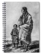 Native American Squaw And Child Spiral Notebook