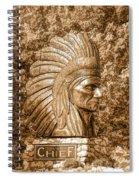 Native American Statue Copper  Spiral Notebook