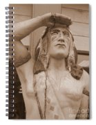 Native American Statue In Toppenish Spiral Notebook