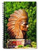 Native American Statue Spiral Notebook