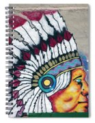 Native American Wall Mural Cheyenne Wyoming Spiral Notebook