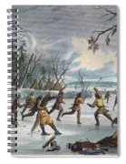 Native Americans: Ball Play, 1855 Spiral Notebook