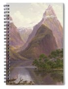 Native Figures In A Canoe At Milford Sound Spiral Notebook