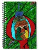 Nativity In A Bulb Spiral Notebook