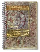 Nativity In An Initial P Spiral Notebook