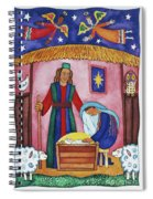 Nativity With Angels Spiral Notebook