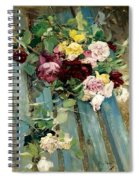Natura Morta Con Rose Giovanni Boldini Spiral Notebook