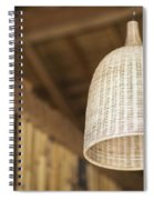 Natural Bamboo Interior Design Lampshade Detail Spiral Notebook