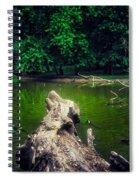 Natural Fishing Pier Spiral Notebook