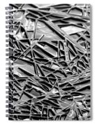 Natural Geometry Black And White Spiral Notebook