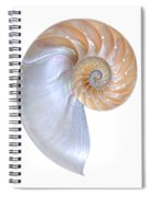 Natural Nautilus On White Vertical Spiral Notebook