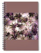 Nature Abstract In Pink And Brown Spiral Notebook