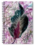 Nature Abstract Of Leaf And Grass Spiral Notebook