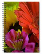 Nature Colorful Bouquet Spiral Notebook