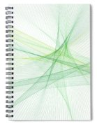 Nature Computer Graphic Line Pattern Spiral Notebook