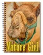 Nature Girl Camel Spiral Notebook