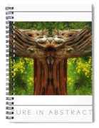 Nature In Abstract 4 Poster Spiral Notebook