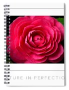 Nature In Perfection Poster Spiral Notebook