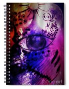 Nature N Music Abstract Spiral Notebook