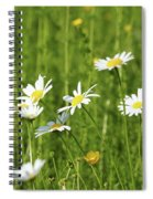 Nature Spring Scene White Wild Flowers Spiral Notebook