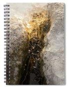 Natures Creativity - Golden Crevasse Spiral Notebook