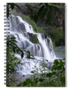 Nature's Framed Waterfall Spiral Notebook