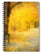 Nature's Golden Corridor Spiral Notebook