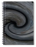 Nature's Illusions- Yin And Yang Spiral Notebook