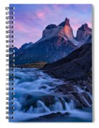 Nature's Sunrise Canvas Spiral Notebook