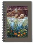 Natures Union At Monterey Robert Lyn Nelson Spiral Notebook