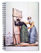 Naughty Ladies 19th Century Spiral Notebook
