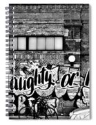 Naughty Or Nice In B W Spiral Notebook