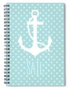 Nautical Anchor Spiral Notebook