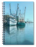 Nautical Aquas At The Harbor Spiral Notebook
