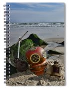 Nautical Collection Found On The Beach Spiral Notebook