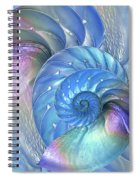 Nautilus Shells Blue And Purple Spiral Notebook