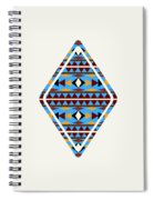 Navajo Blue Pattern Art Spiral Notebook