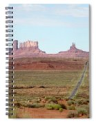 Navajo Flag At Monument Valley Spiral Notebook