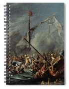 Naval Battle Between Spanish And Turks Spiral Notebook