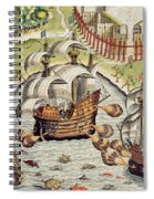 Naval Battle Between The Portuguese And French In The Seas Off The Potiguaran Territories Spiral Notebook