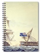 Naval Engagement Between The Uss Frigate Constitution And Hms Frigate Java Spiral Notebook