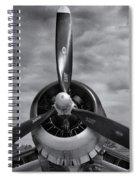 Navy Corsair Propeller Spiral Notebook