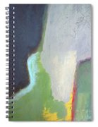 Navy Gray Green Abstract Spiral Notebook