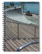 Navy Pier Stairs Spiral Notebook